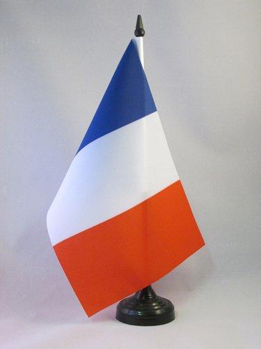 BANDIERA DA TAVOLO FRANCIA 21x14cm - PICCOLA BANDIERINA FRANCESE 14 x 21 cm - AZ FLAG