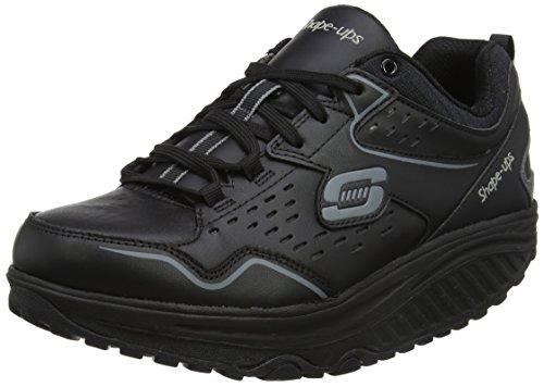 Skechers Women's Shape UPS 2.0 Perfect Comfort Fashion Sneaker, Black, 8 M - Ups Black Shape