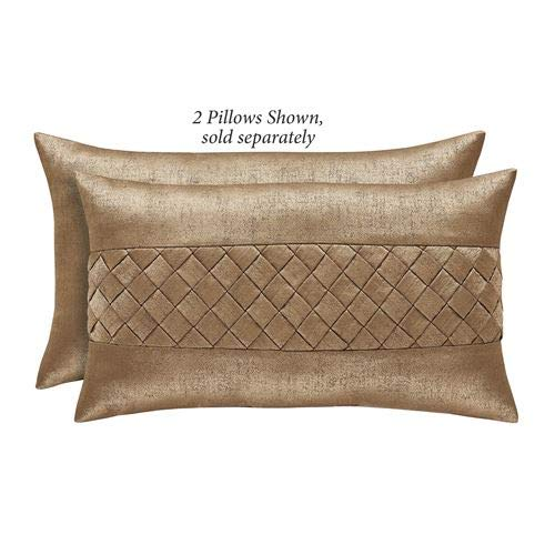 (J Queen New York, Inc. Sorrento Tailored Pillow Gold/Bronze Rectangle)