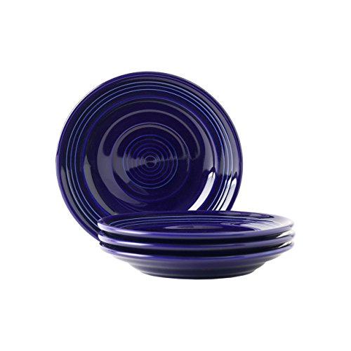"""Tuxton Home Concentrix Side Plate (Set of 4), 6 1/4"""", Cobalt Blue; Heavy Duty; Chip Resistant; Lead and Cadmium Free; Freezer to Oven Safe up to 500F"""