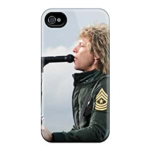 Excellent Hard Phone Cover For Iphone 4/4s With Unique Design Beautiful Bon Jovi Band Skin JasonPelletier