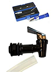 Replacement Faucet and Hose for Mr. Beer Homebrewing Beer Making Kit (Faucet, Hose, and Refractometer)