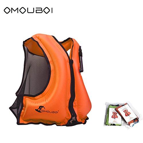 Life Jacket Adult Inflatable Swim Vest For Snorkeling By OMOUBOI,Suitable For (Adult Snorkel Vest)