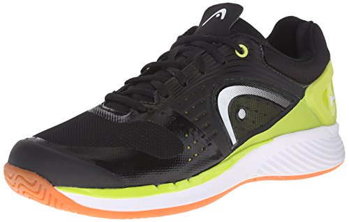 Head Men's Sprint Pro Indoor Low Shoe, Black/Lime, 9.5 M US