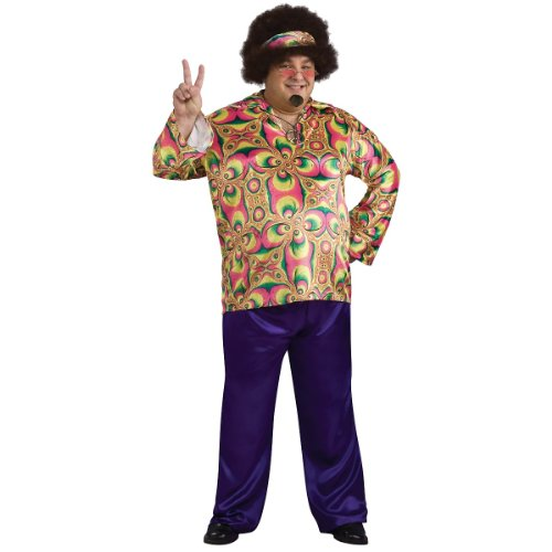 Rubie's Men's Purple Daze Hippie Costume, Multi, Standard