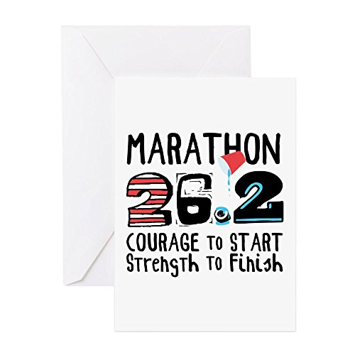 CafePress - Marathon Courage Greeting Cards - Greeting Card, Note Card, Birthday Card, Blank Inside (Marathon Greeting Cards)
