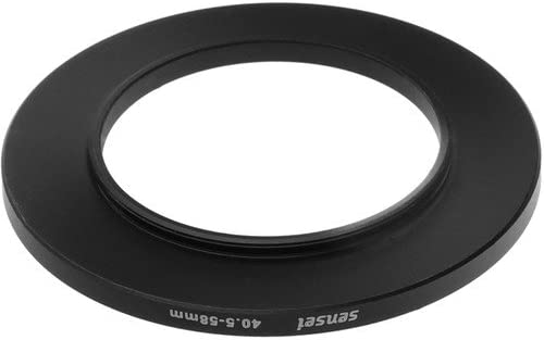 Sensei 40.5mm Lens to 58mm Filter Step-Up Ring 2 Pack