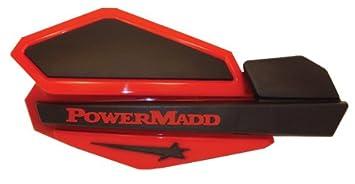 PowerMadd 34207 Star Series Handguard - CR Red/Black