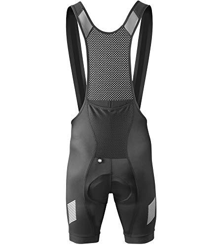(Aero Tech Designs Elite Endurance Bib Shorts - Made in the USA (Medium, Black) )