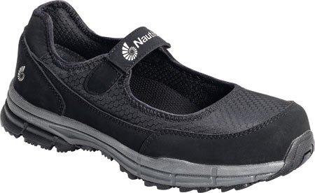 Nautilus Women's Soft Toe ESD Mary Janes,Black,8.5 W