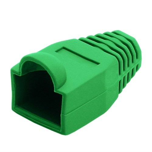 RJ-45 Color Coded Strain Relief Boots - Green (50pcs)