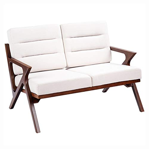 Arm Chairs, Recliners & Sleeper Chairs, Fabric Loveseat Armchair Upholstered Wooden Lounge Chair