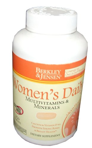 Berkley and Jensen Women's Daily Multivitamins and Minerals 250 Tablets Per Bottle