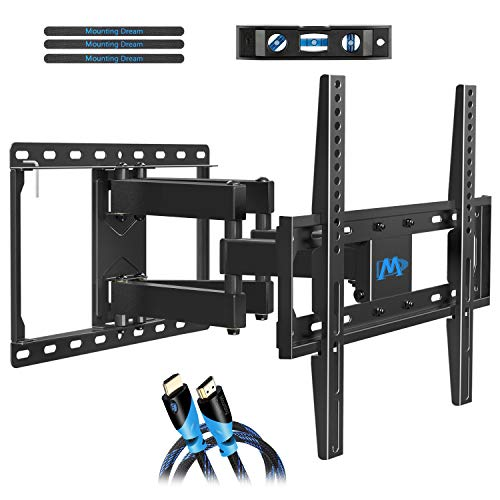 Mounting Dream TV Mount Full Motion for Most 26-55 Inch Flat Screen TVs, TV Wall Mount Bracket with Articulating Dual Arms Bear Up to VESA 400x400mm and 99 lbs - Tilt, Swivel and Rotation (14 Inch Flat Screen Tv For Sale)