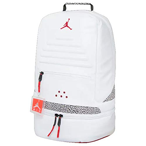 NIKE JORDAN RETRO 3 BACKPACK BAG WHITE-BLACK-CEMENT 9A0018-001
