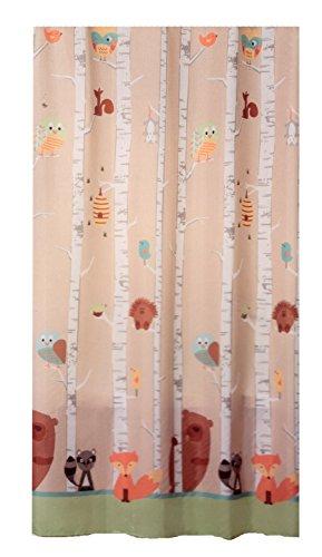 Saturday Knight Ltd FOREST FRIENDS Fabric Shower Curtain