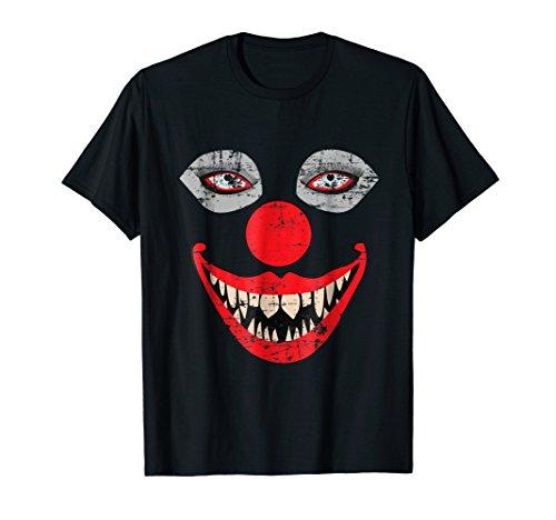 Scary Clown Face T-Shirt Weird Bizarre Halloween Tee Shirt