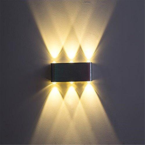 Sconce Billiard Light (Modern Creative 6 Heads 6W Wall Lamp Bedroom Bedside Aisle Corridor Staircase Aluminum LED Wall Light Bar Cafe Club Billiard Room Color Indoor Outdoor Sconce Mirror Lamp,Warm Light)