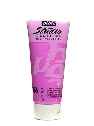 Pebeo Studio Acrylic Paint iridescent violet blue 100 ml [PACK OF 3 ]