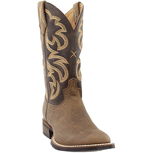 (Twisted X Men's Rancher Boot, Color: Crazy Horse Tobac/Crazy Horse Taupe, Size:)