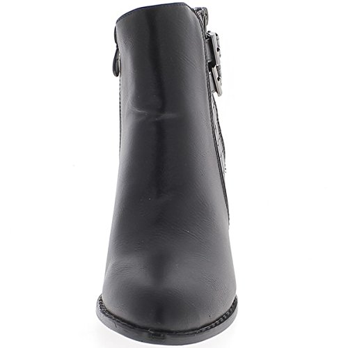 Alto Lucida Women Al Black Cm Pelle Tacco Da Boots In 8 Chaussmoi UBXAwqx