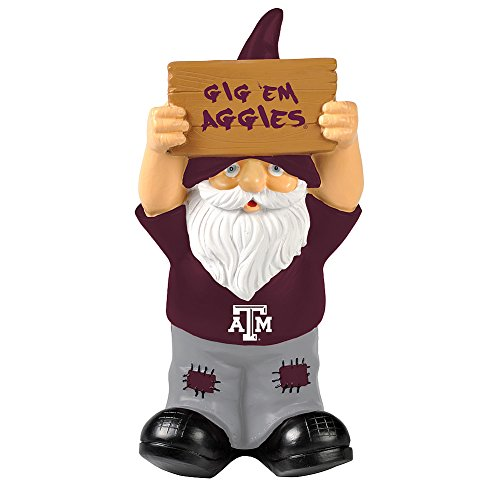 Elite Fan Shop Texas A&M Aggies Garden Gnome - Maroon