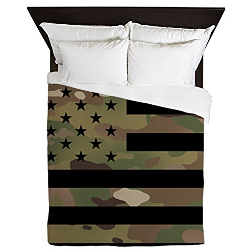 CafePress U.S. Flag: Military Camouflage Queen Duvet Cover, Printed Comforter Cover, Unique Bedding, Microfiber