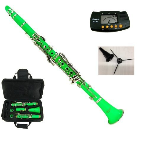 New Merano B Flat GREEN / Silver Clarinet with Case+Metro for sale  Delivered anywhere in USA