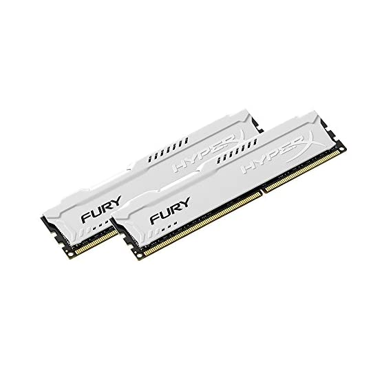Kingston HyperX FURY 16GB Kit (2x8GB) 1866MHz DDR3 CL10 DIMM - White (HX318C10FWK2/16) 41qt1h2PvyL. SS555