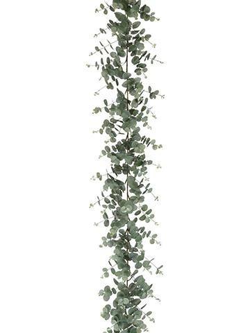 Allstate Floral & Craft Faux Eucalyptus Leaf Garland in Grey Green - 6' Long by Allstate Floral & Craft (Image #2)