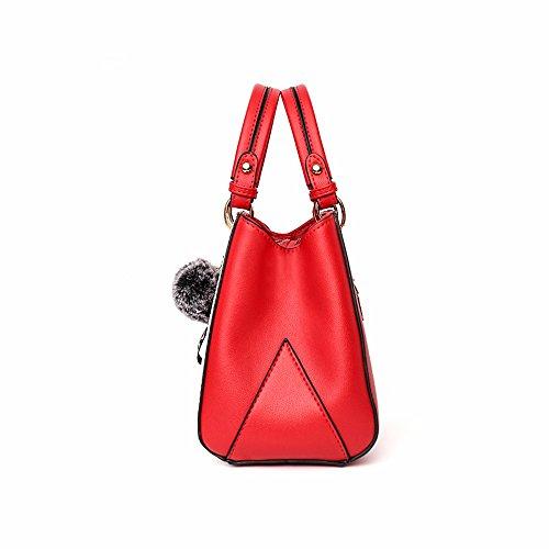 Rosa rojo Mujeres la Moda de Bolso Bag Las Hombro CCZUIML de de wRHqWPv