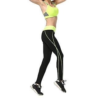Pop Fashion Womens Activewear Leggings Workout Pants Sportswear Athletic Pants (XL, Black/Pink)