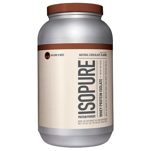 Isopure Protein Powder, 100% Whey Protein Isolate, Keto Friendly, Flavor: Natural Chocolate, 3 Pounds (Packaging May Vary) ()