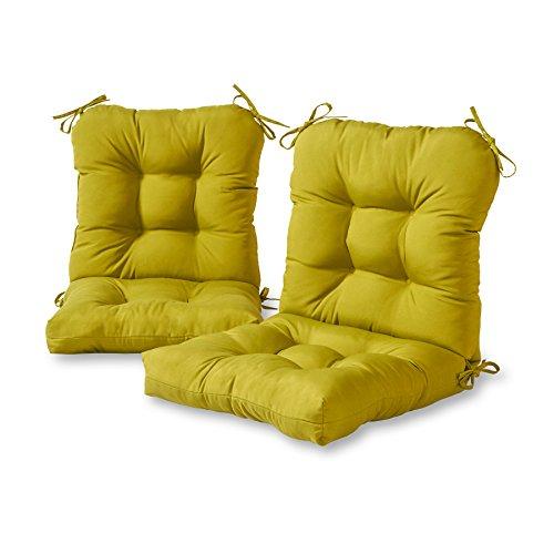 Greendale Home Fashions Outdoor Seat/Back Chair Cushion (set of 2), Kiwi