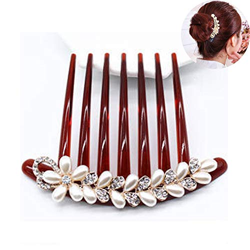 TOP SEWING Party Hair Side Combs Decorative Crystal