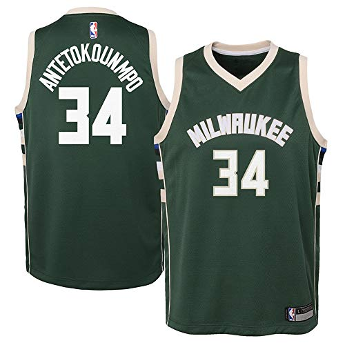 Youth Milwaukee Bucks #34 Giannis Antetokounmpo Green Swingman Jersey L
