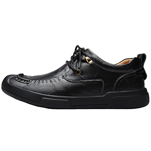 Black C Flats men JIONS Up On Classic Shoes Moccasins Boat Dress Oxford Leather Shoes Slip for Lace Casual Shoes wSqgUTx1f