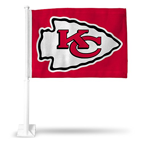 NFL Kansas City Chiefs Car Flag, Red, with White Pole