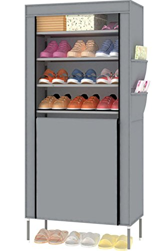 Awkli 8 Tiers Shoe Rack with Dustproof Cover Closet Shoe Storage Cabinet Organizer