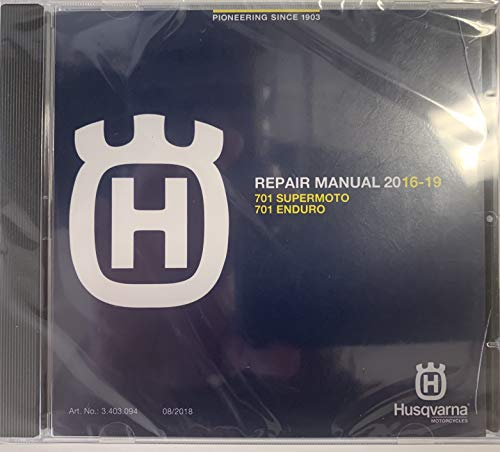 Husqvarna Repair Manual DVD 2016-2019 701 Supermoto 701 Enduro