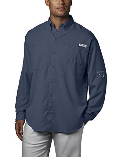 Columbia Mens Plus Tamiami II Long Sleeve Shirt, Dark Mountain - X-Small