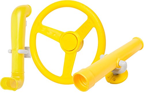 Swing Set Stuff Periscope Telescope Steering Wheel (Yellow) with SSS Logo Sticker (Swing Set Steering Wheel)