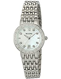 Women's Quartz Stainless Steel and Silver Plated Casual Watch(Model: 96R203)