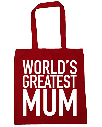 Red mum Bag x38cm Classic Beach 10 42cm World's greatest Tote Shopping HippoWarehouse litres Gym wBAqc