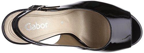 Sandales Femme Noir Rumble Patent Gabor Black P7qF5Rx0