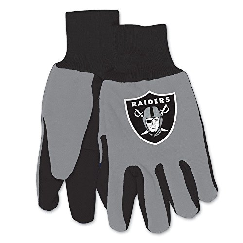 Wincraft NFL Oakland Raiders Two-Tone Gloves, 2-Pack, Black/Gray ()