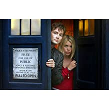 Doctor Who UK Imported 17 x 11 inch David Tennant and Billie Piper in TARDIS Door