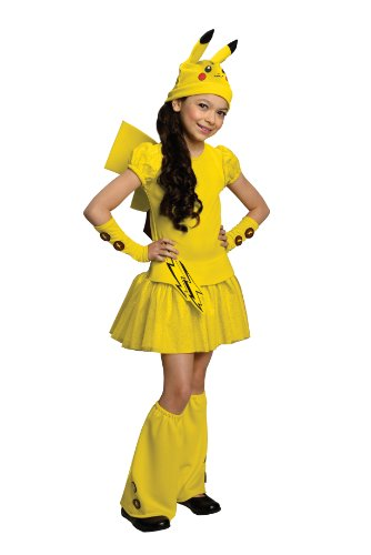 Pokemon Girl Pikachu Costume Dress, (Fancy Girl Halloween Costumes)