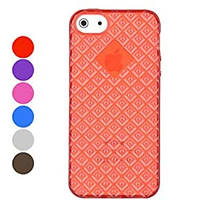 DEVIA Diamond Pattern TPU Material Soft Case for iPhone 5/5S (Assorted Colors) , Purple