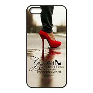 Give A Girl Right Shoes And She Can Conquer The World--Marilyn Monroe Quote High Heeled Shoes Durable PC Case Cover For iPhone 5/5s By Beautiful Heaven by runtopwell